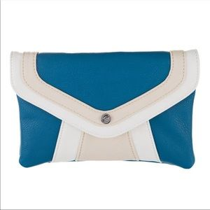 Grace Adele Shay crossbody clutch in ocean
